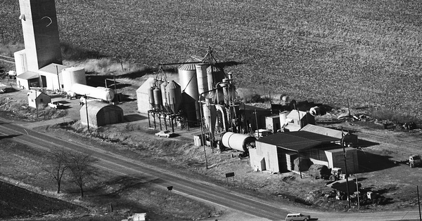 Vintage Aerial photo from 1976 in Dodge County, NE