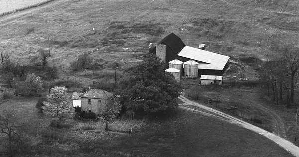 Vintage Aerial photo from 1972 in Champaign County, OH