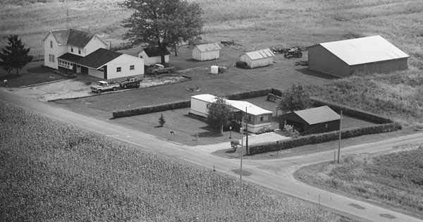 Vintage Aerial photo from 1980 in Morrow County, OH