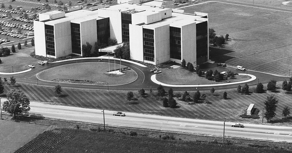 Vintage Aerial photo from 1983 in DuPage County, IL
