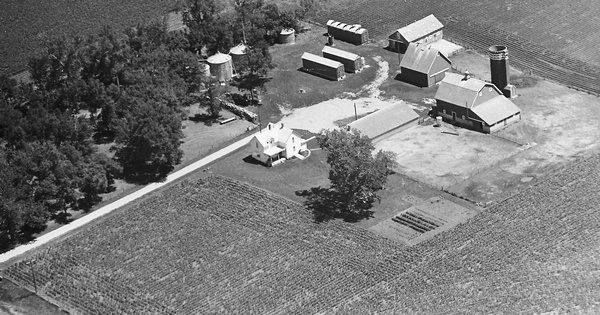 Vintage Aerial photo from 1981 in Osceola County, IA