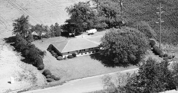 Vintage Aerial photo from 1988 in Huron County, MI