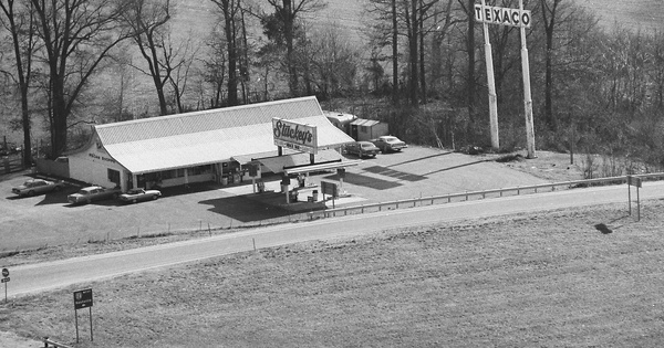 Vintage Aerial photo from 1987 in Grundy County, TN