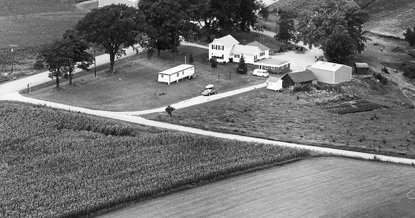 Vintage Aerial photo from 1974 in Crawford County, WI