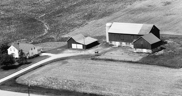 Vintage Aerial photo from 1978 in Manitowoc County, WI