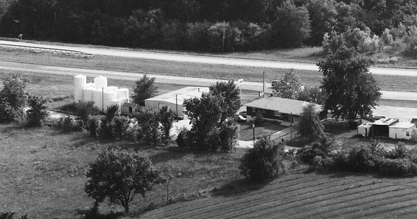 Vintage Aerial photo from 1983 in Johnson County, MO
