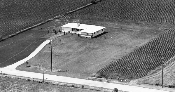 Vintage Aerial photo from 1965 in DuPage County, IL
