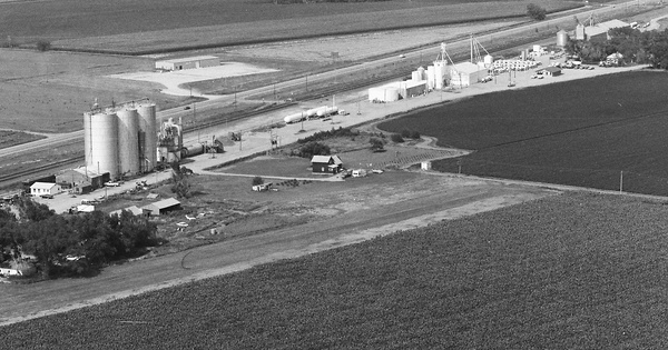Vintage Aerial photo from 1984 in Buffalo County, NE