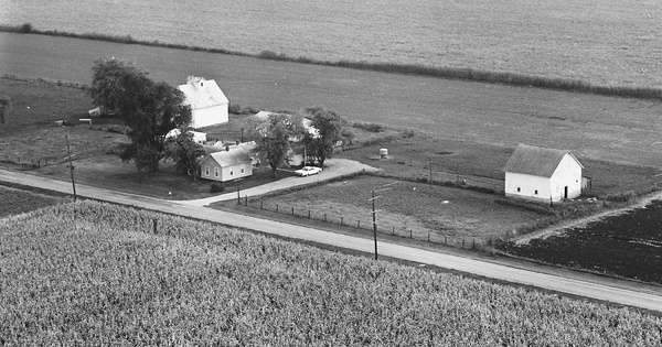 Vintage Aerial photo from 1966 in Logan County, IL