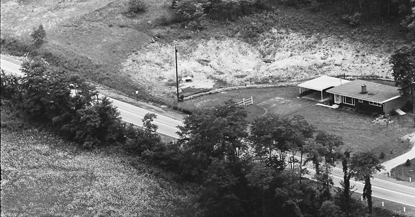 Vintage Aerial photo from 1964 in Centre County, PA