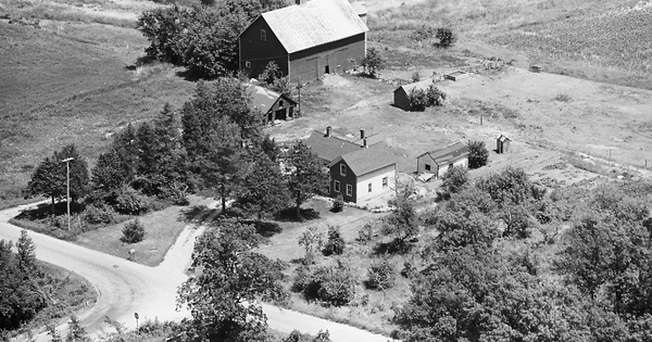 Vintage Aerial photo from 1980 in Sauk County, WI