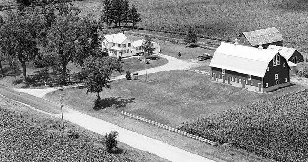 Vintage Aerial photo from 1978 in Black Hawk County, IA