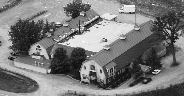 Vintage Aerial photo from 1990 in Saratoga County, NY