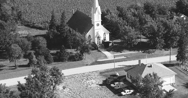 Vintage Aerial photo from 1990 in Wayne County, NE