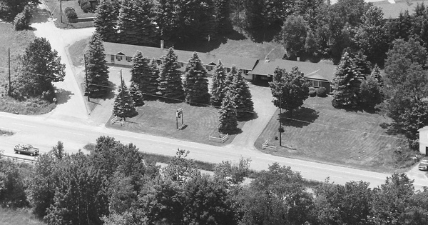 Vintage Aerial photo from 1985 in Lackawanna County, PA