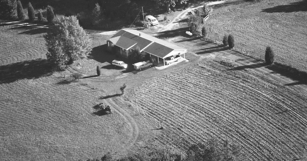 Vintage Aerial photo from 1990 in Franklin County, NC