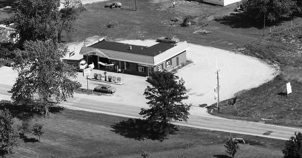 Vintage Aerial photo from 1985 in Shelby County, IL