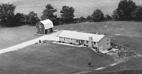 Vintage Aerial photo from 1982 in Huntington County, IN