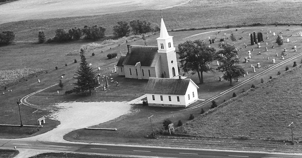 Vintage Aerial photo from 1967 in Goodhue County, MN