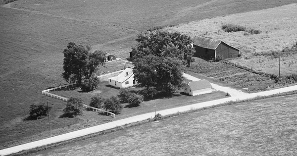 Vintage Aerial photo from 1969 in Allamakee County, IA
