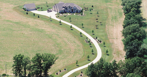 Vintage Aerial photo from 2002 in Hillsdale County, MI