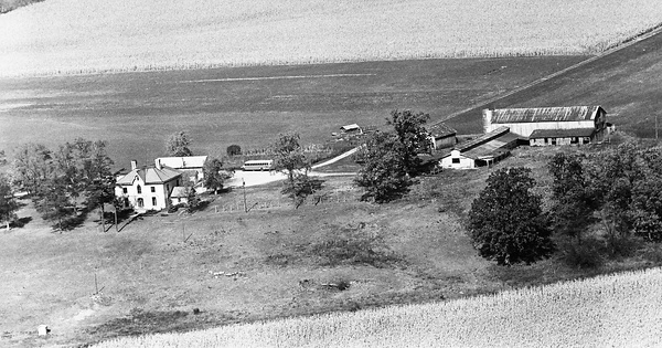 Vintage Aerial photo from 1964 in Clark County, OH