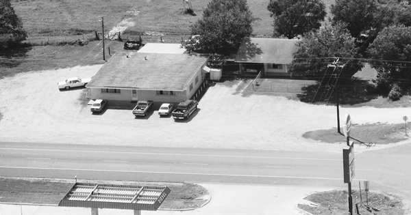 Vintage Aerial photo from 1987 in Brazos County, TX