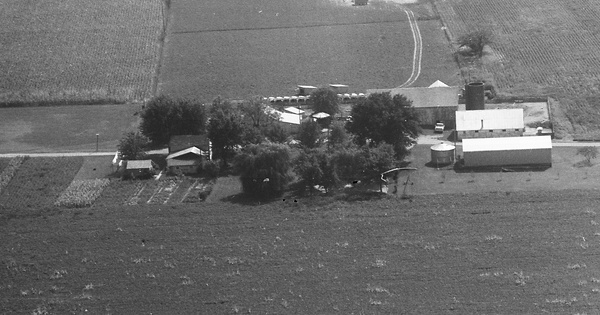 Vintage Aerial photo from 1973 in Hancock County, OH
