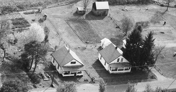 Vintage Aerial photo from 1986 in Guernsey County, OH