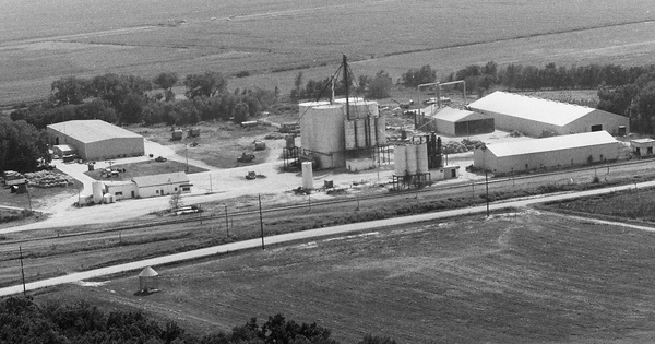 Vintage Aerial photo from 1984 in Hall County, NE