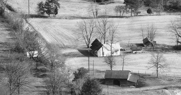 Vintage Aerial photo from 1989 in Alexander County, NC