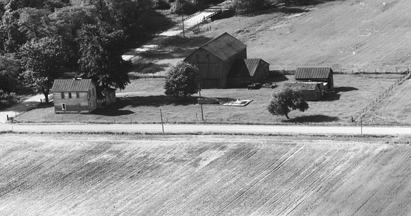 Vintage Aerial photo from 1973 in Morrow County, OH