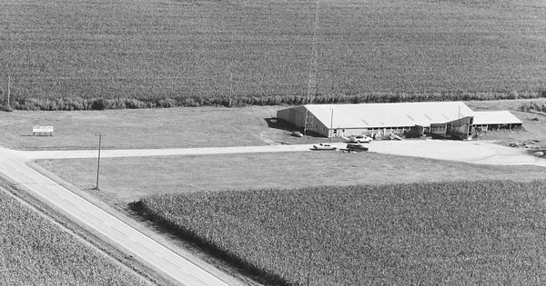 Vintage Aerial photo from 1978 in Coles County, IL