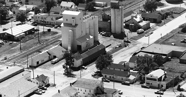 Vintage Aerial photo from 1974 in Muscatine County, IA