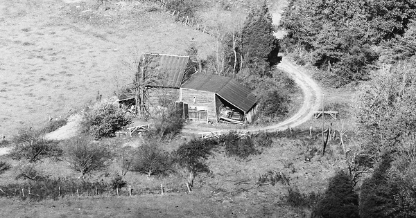 Vintage Aerial photo from 1983 in Prince Edward County, VA