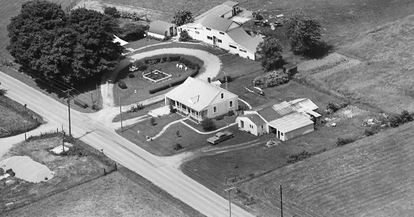 Vintage Aerial photo from 1969 in Clark County, OH