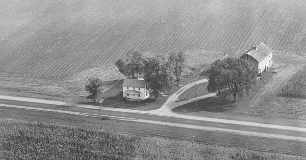 Vintage Aerial photo from 1982 in Champaign County, OH