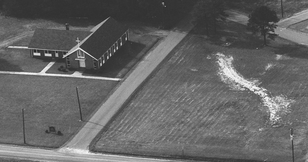 Vintage Aerial photo from 1983 in Chatham County, NC