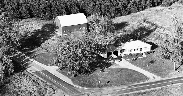 Vintage Aerial photo from 1972 in Kent County, MI