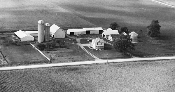 Vintage Aerial photo from 1982 in Black Hawk County, IA