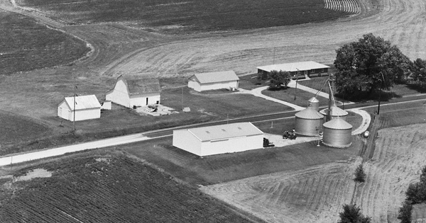 Vintage Aerial photo from 1981 in Jefferson County, IA