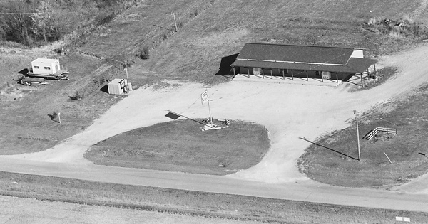 Vintage Aerial photo from 1980 in Moultrie County, IL