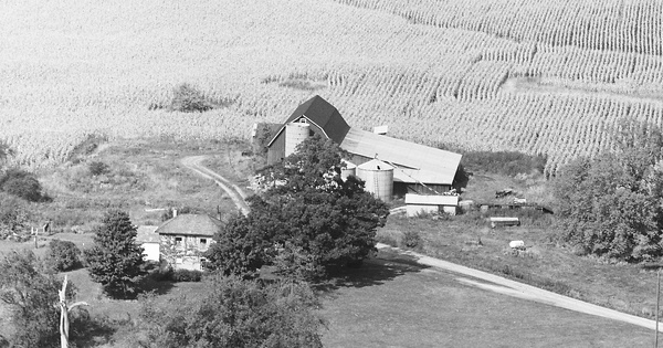 Vintage Aerial photo from 1968 in Champaign County, OH