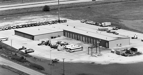 Vintage Aerial photo from 1983 in Polk County, IA