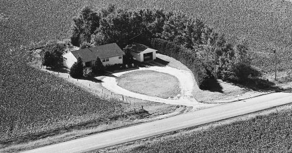 Vintage Aerial photo from 1968 in Butler County, KS