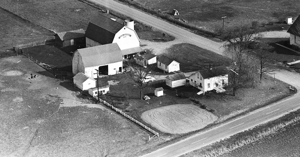 Vintage Aerial photo from 1963 in Hillsdale County, MI