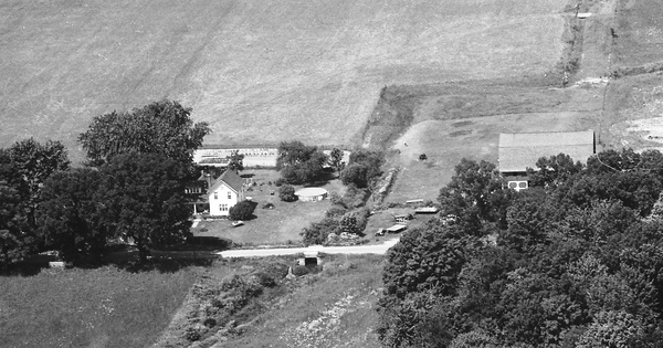 Vintage Aerial photo from 1973 in St. Clair County, MI