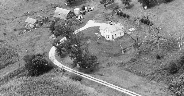 Vintage Aerial photo from 1980 in Fillmore County, MN
