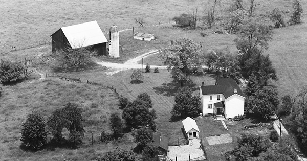 Vintage Aerial photo from 1968 in Westmoreland County, PA