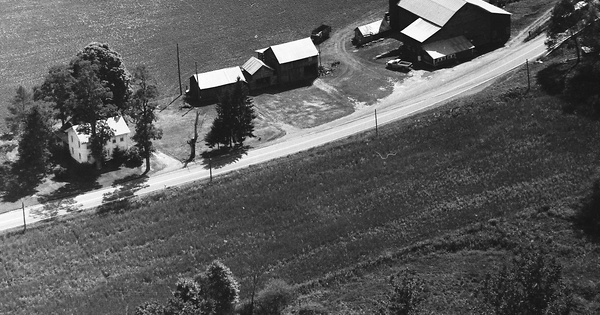 Vintage Aerial photo from 1991 in Susquehanna County, PA